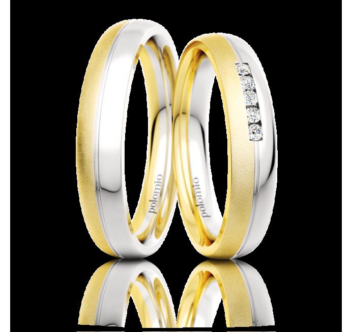 Snubní prsteny Zeno duo 4-02