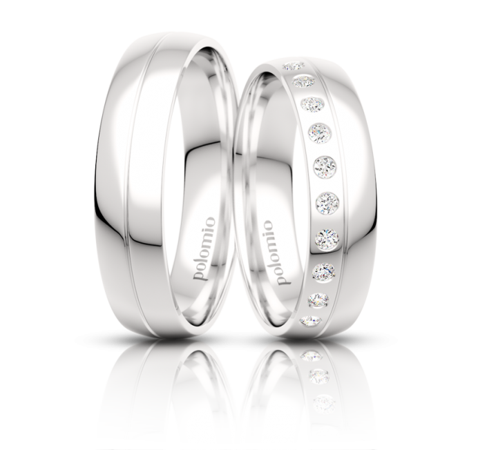 POLOMIO Snubní Snubní prsteny Mio 5-01