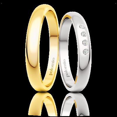 Snubní prsten Eila 3 mm