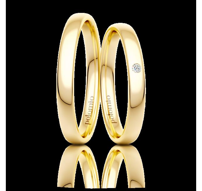 Snubní prsten Lens 3 mm